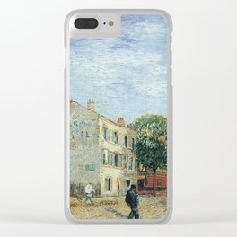 Vincent Van Gogh - Restaurant Rispal at Asnieres1887 Clear iPhone Case