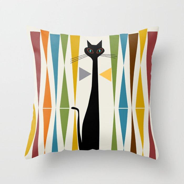 Mid-Century Modern Art Cat 2 Deko-Kissen