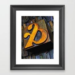 and… oldskool letterpress ampersand type Framed Art Print