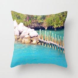 Rocks and Ocean Throw Pillow