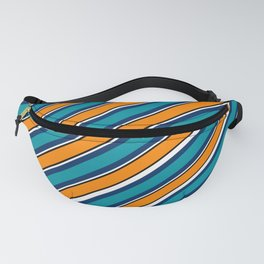 TEAM COLORS 1…Teal navy white and orange stripe Fanny Pack
