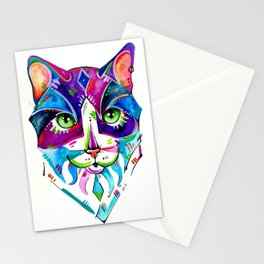 Abstract Cat 1 Stationery Cards