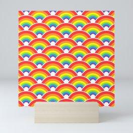 Rainbow Pattern Mini Art Print