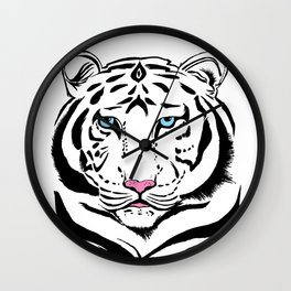 Tiger of winter | O Tigre do inverno Wall Clock