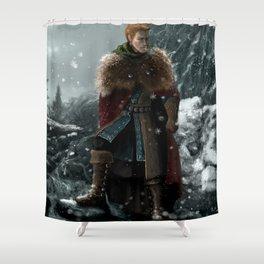 Dragon Age - Alistair Theirin - Winter Shower Curtain
