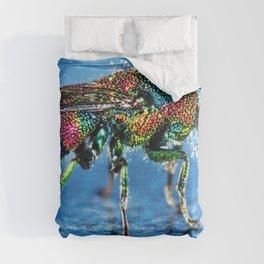 Multi-colored Cuckoo Wasp Portrait #4 Comforters