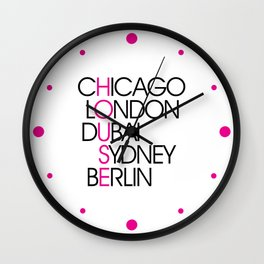 Worldwide House EDM Quote Wall Clock