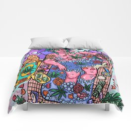 Buds N' Bubbles Comforters