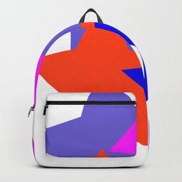 Kids 4 Stars Blue Pink Blue Grey Orange Stylish Design DBK4K Backpack