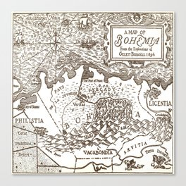 Map of Bohemia Canvas Print