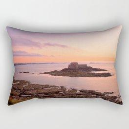 Saint-Malo Twilight Coast Rectangular Pillow