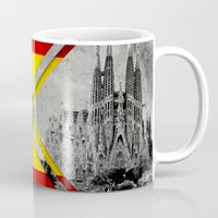 spain Mugs featuring Flags - Spain by Ale Ibanez