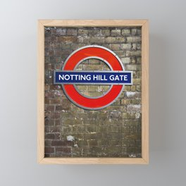 Notting Hill Gate Tube Sign Framed Mini Art Print