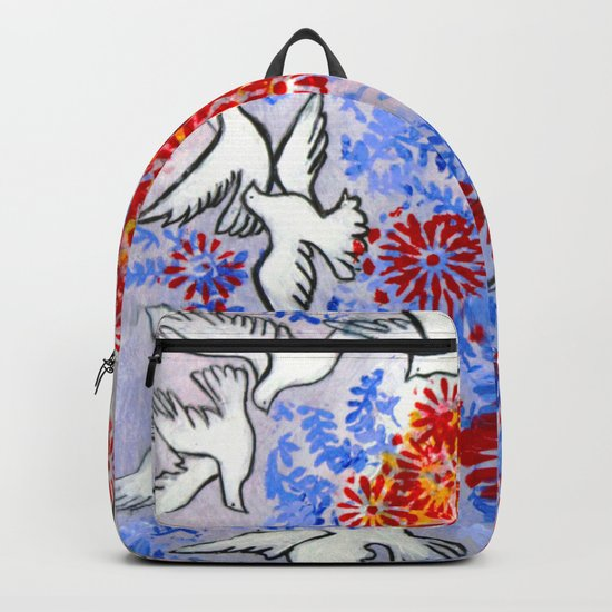 Floral Doves Backpack