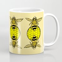 bees Mugs featuring Bees by Chelsey Hamilton