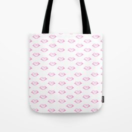 Trendy hand painted watercolor pink  cool lips Tote Bag