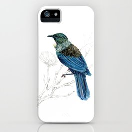 Tui, New Zealand native bird iPhone Case