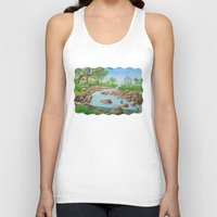 river Tank Tops featuring  river  by Amy Fan