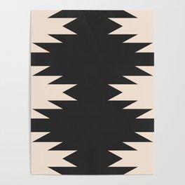 Minimal Southwestern - Charcoal Poster