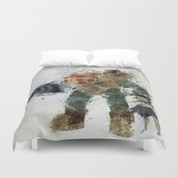 bubbles Duvet Covers featuring Bubbles by Melissa Smith