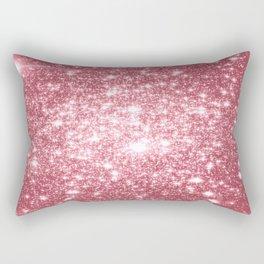 Pink Sparkle Stars Rectangular Pillow