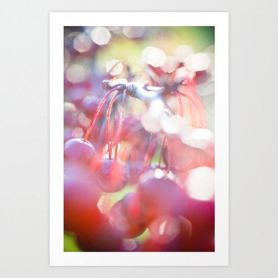Red Orbs Art Print