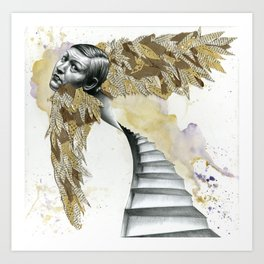 Of the Wide, White Stairs Art Print