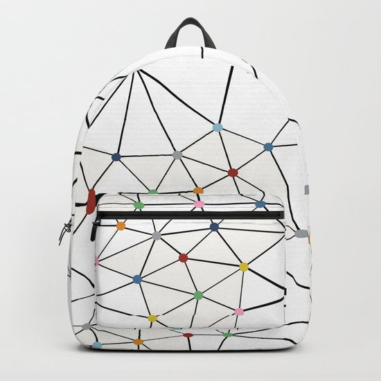 Seg with Color Spots White Backpack