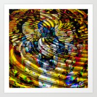 asia Art Prints featuring Asia by pystali