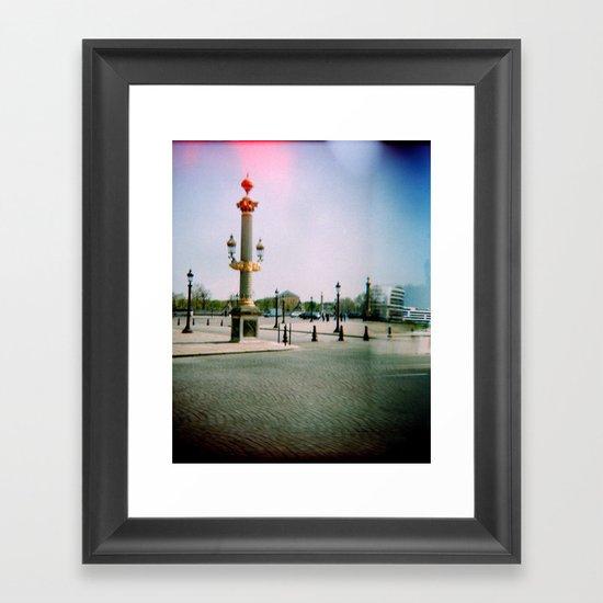 Place de la Concorde, Paris Framed Art Print