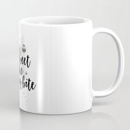 TEXT ART Life is sweet so take a big bite Coffee Mug
