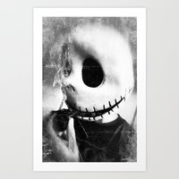 jack skellington Art Prints featuring smoking jack skellington by Joedunnz