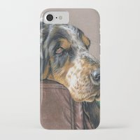 the hound iPhone & iPod Cases featuring Hound Dog by Sarahphim Art