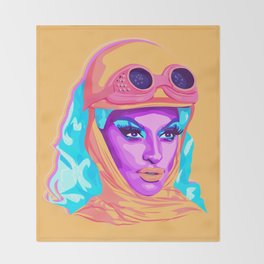QUEEN MIZ CRACKER Throw Blanket
