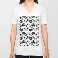 loll3 V-neck T-shirts featuring Kittens  by lOll3