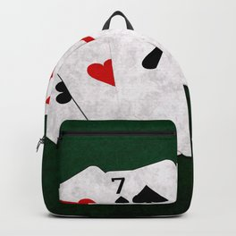Poker Four Of A Kind Seven Two Backpack