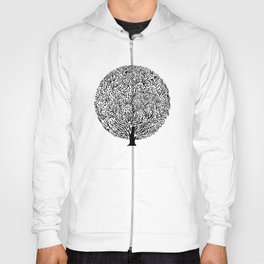 Black and White Tree Hoody