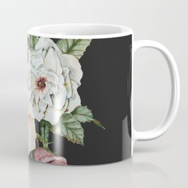 Colorful Wildflower Bouquet on Charcoal Black Coffee Mug