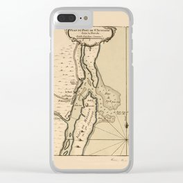 Map of St. Augustine 1762 Clear iPhone Case