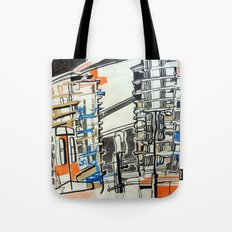 London From A Train Tote Bag
