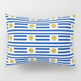 flag of Uruguay-Uruguyan,montevideo,spanish,america,latine,Salto,south america,paysandu,costa,sun Pillow Sham