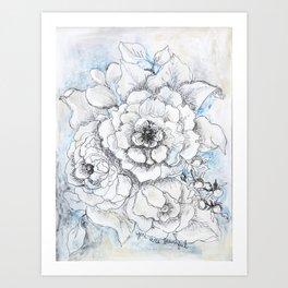 You Are Beautiful - Mixed Media Painting By Jennifer Lorton Art Print