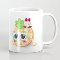 shinee Mugs featuring SHINee Pinee Onew by sophillustration