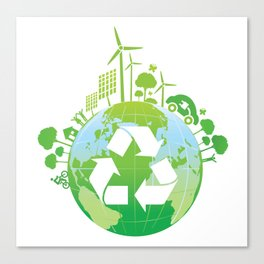 Green Planet Canvas Print