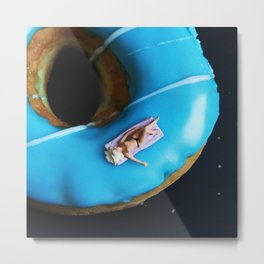 A Day at the Donut Beach. 3 Metal Print