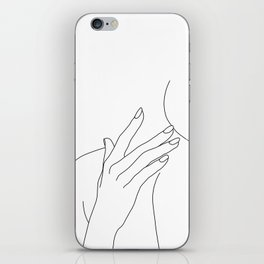 Female body line drawing - Danna iPhone Skin