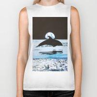 dolphin Biker Tanks featuring Dolphin by John Turck