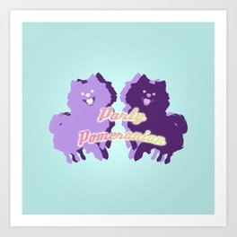 Party Pomeranian Art Print