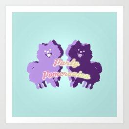 Party Pomeranian Art Print