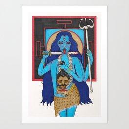 Goddess Kali Art Print